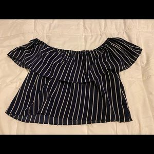 striped crop top - Forever 21